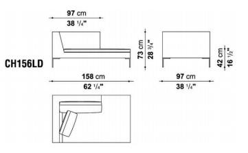 B&B CH156LD drawing