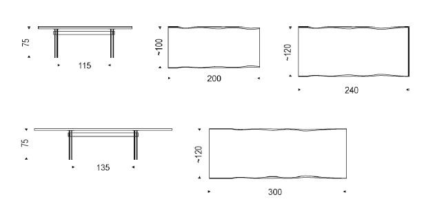 Cattelan Italia Table IKON drawing