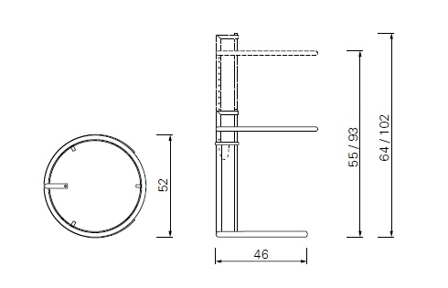 ClassiCon Adjustable Table drawing