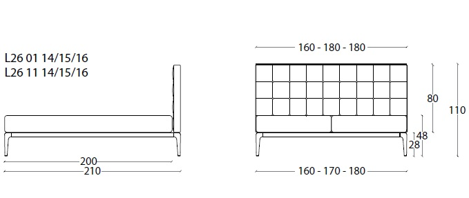 L26 BED drawing