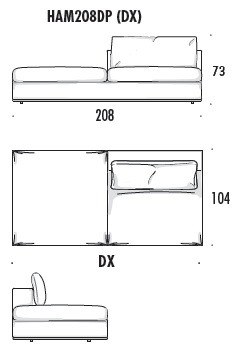 Hamilton sofa HAM208DP