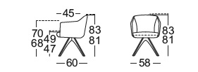 Rolf Benz 640 chair drawing
