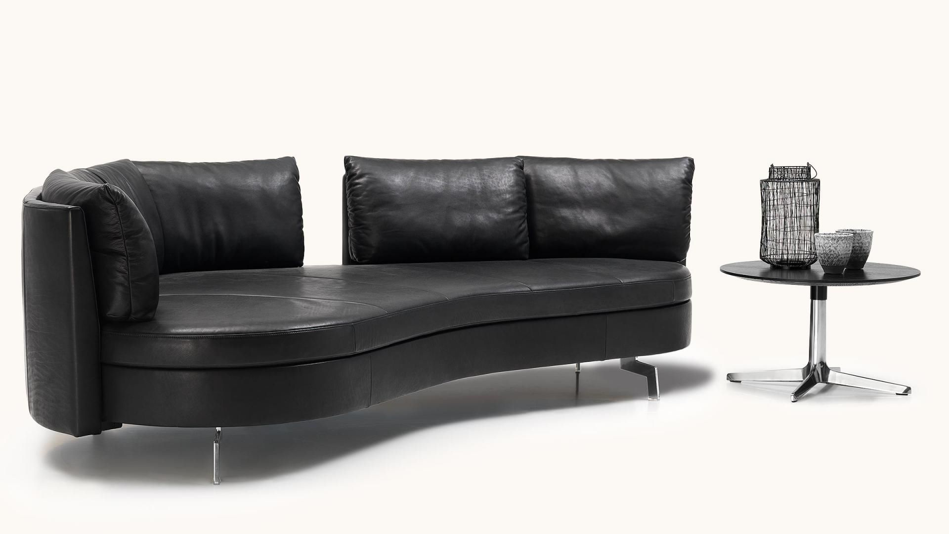 semicircular sofa modular contemporary leather. Black Bedroom Furniture Sets. Home Design Ideas