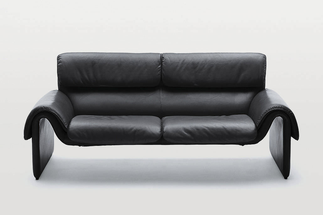 Contemporary sofa / leather