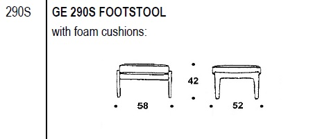 290S foot stool drawing