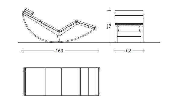Cassina 837 CANAPO drawing