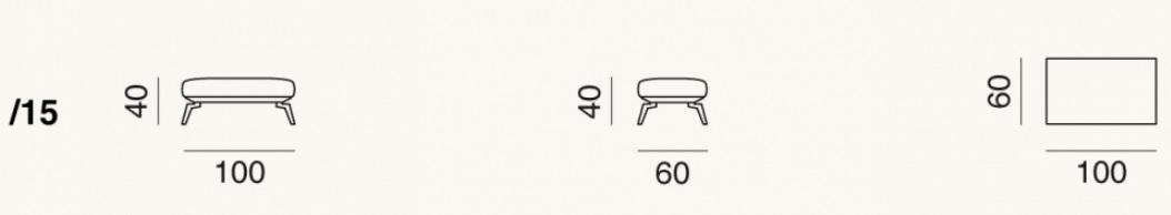 de Sede DS-87-15 Ottoman drawing