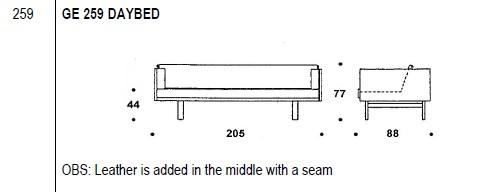259 Wegner Day bed drawing