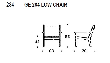 GE 284 Low chair drawing