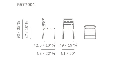 Louise chair drawing