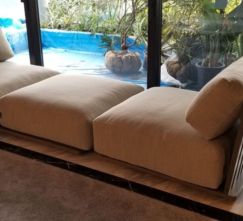 Flexform アウトドアソファ、コーヒーテーブル