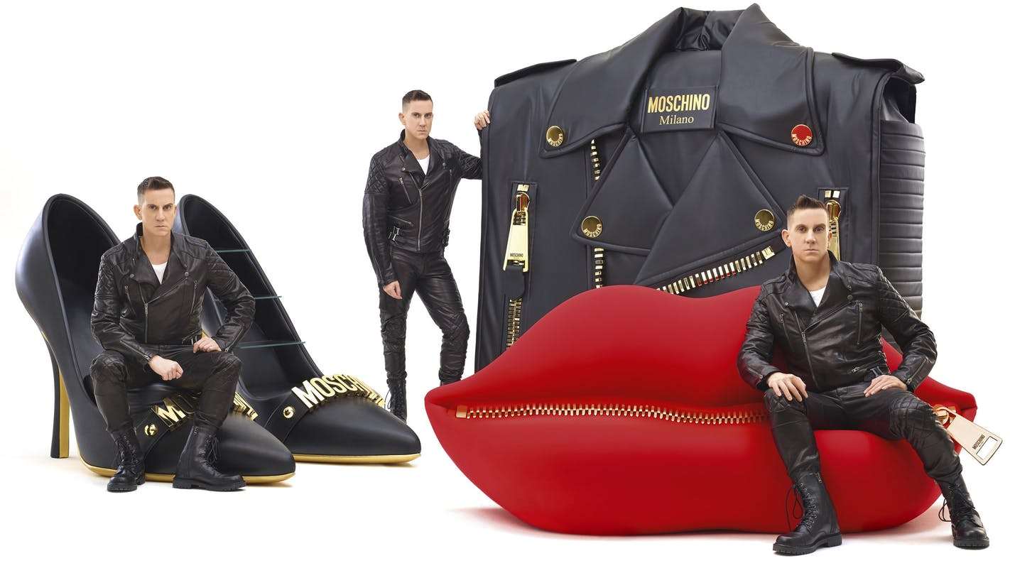 """Moschino kisses Gufram"" + desiner: Jeremy Scott"