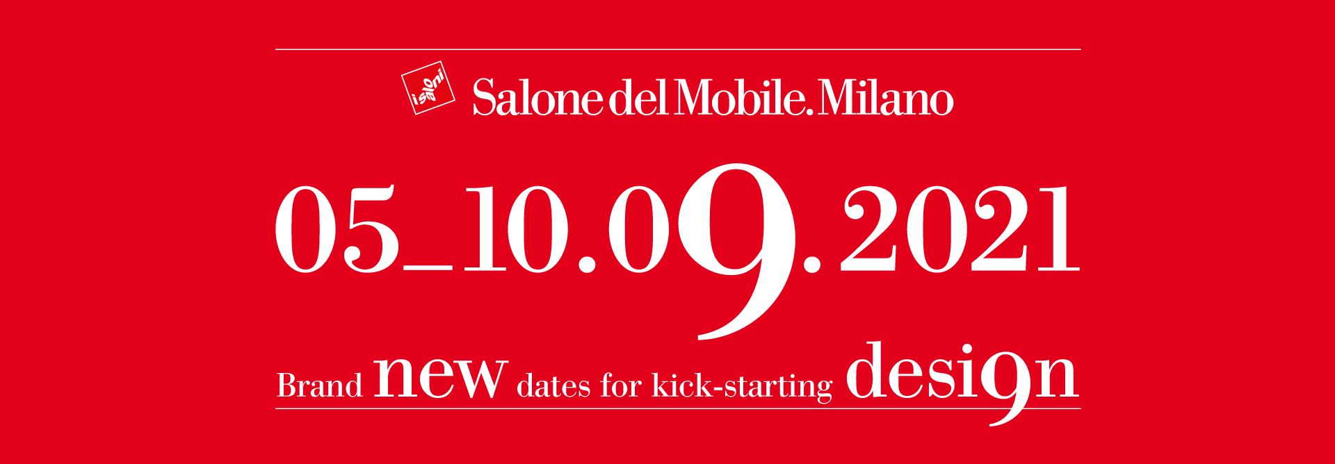 2021 Milano Salone will be held in September