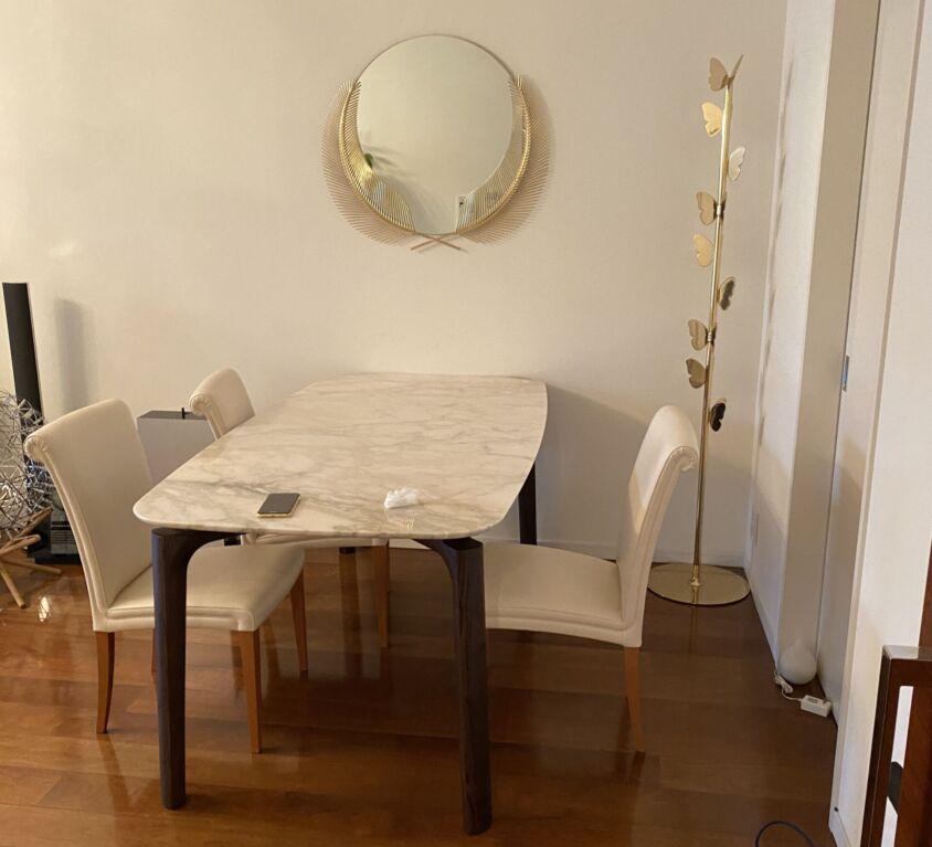 Poltrona Frau NABUCCO テーブル、GHIDINI ミラー・コートハンガー