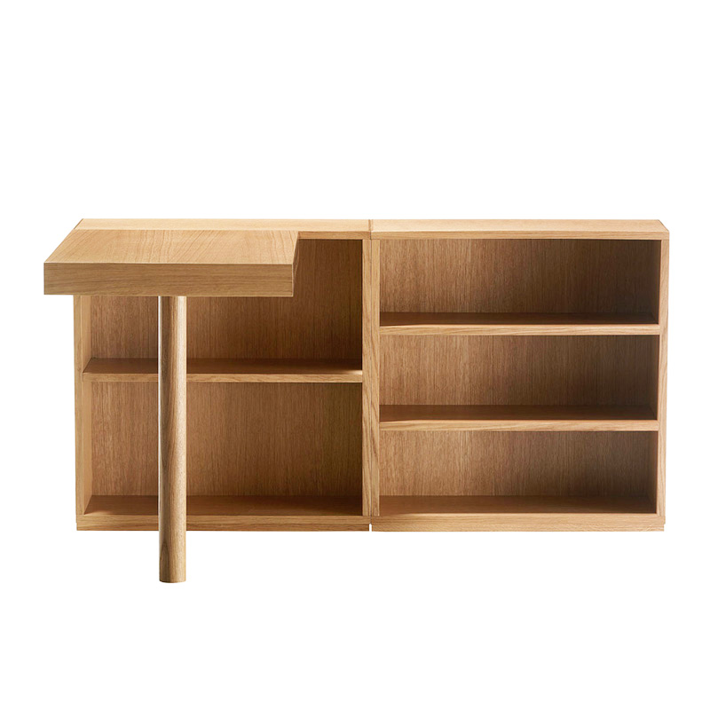 "Cassina ""LC16"" Desk connected left Oak natural"