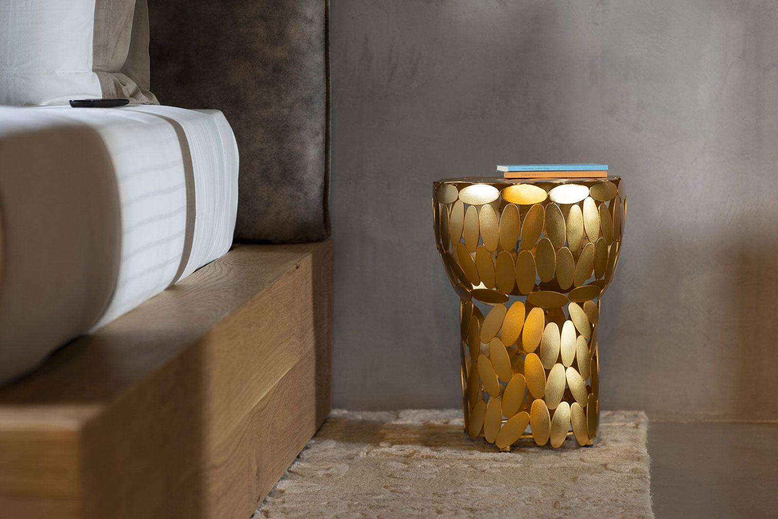 "OPINION CIATTI ""Foliae collection"" gold stool"