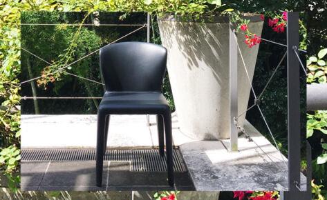 """数量限定 Cassina """"369 HOLA"""" Armless Chair Graphite 更に10%OFFクーポンプレゼント!"""